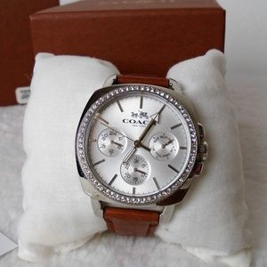 Coach Leather Band Watch